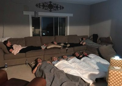 Retreat slumber party